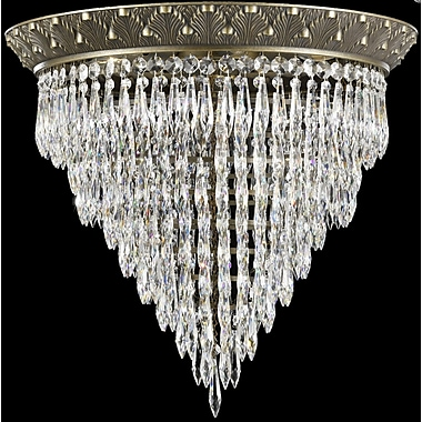 ABC Lighting Corinthian Flush Mount; French Gold Glossy