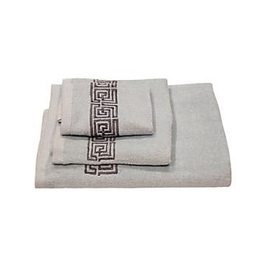 Dainty Home Helena Greek Key 3 Piece Towel Set; Sky Blue