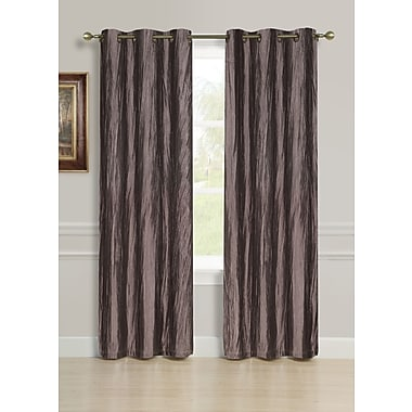 Dainty Home Hudson Solid Blackout Grommet Curtain panels (Set of 2); Chocolate