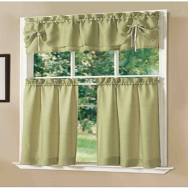 Dainty Home Lucia Kitchen Valance and Tier Set; Sage