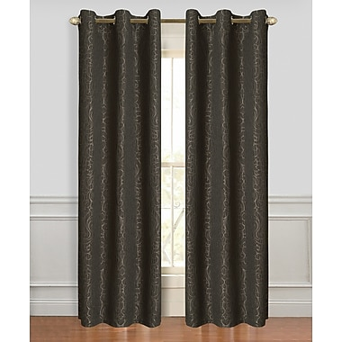 Dainty Home Miranda Curtain Panels (Set of 2); Chocolate