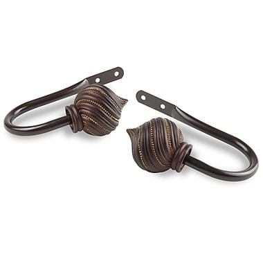 Rod Desyne Bisque Curtain Holdback (Set of 2); Cocoa