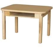 Wood Designs Wood Adjustable Height Open Front Desk