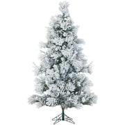 7.5 Ft. Flocked Snowy Pine Christmas Tree