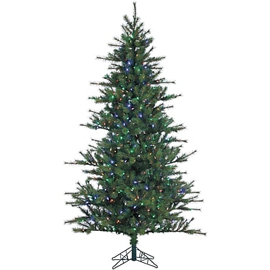 7 Ft. Southern Peace Pine Christmas Tree with Multi-Color LED String Lighting