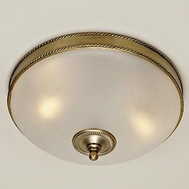 JVI Designs 3-Light Rope Flush Mount; Oil Rubbed Bronze