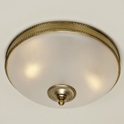 JVI Designs 3-Light Rope Flush Mount; Oil Rubbed Bronze