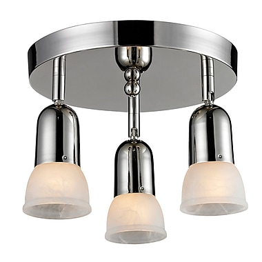 Z-Lite Pria 3-Light Semi-Flush Mount; Chrome