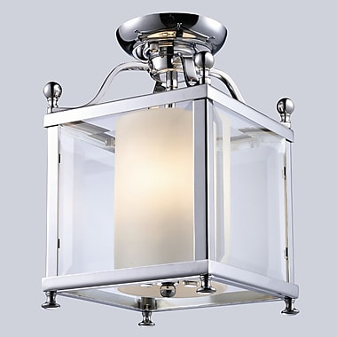 Z-Lite Fairview 3-Light Semi Flush Mount; 14'' H x 11'' W / Chrome