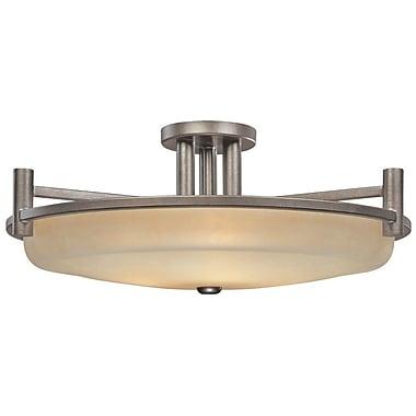Dolan Designs Cortona 3-Light Semi Flush Mount; 11'' H x 27.5'' W