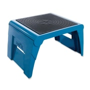 Cramer Industries Inc. 1-Step Plastic Folding Step Stool w/ 250 lb. Load Capacity; Blue
