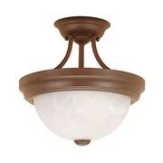 Millennium Lighting 2-Light Semi-Flush Mount; Bronze