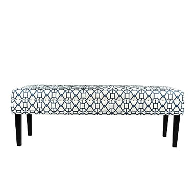 MJLFurniture Noah Upholstered Bench; Blue