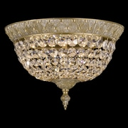 ABC Lighting Corinthian Flush Mount; French Gold Glossy