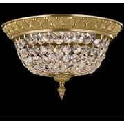 ABC Lighting Corinthian Flush Mount; Polished Brass with Umber Inlay