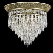 ABC Lighting Corinthian Flush Mount; True Brass