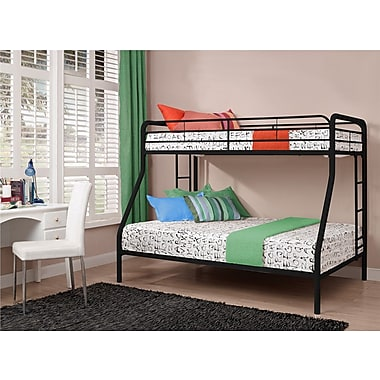 DHP Twin Over Full Bunk Bed, Black