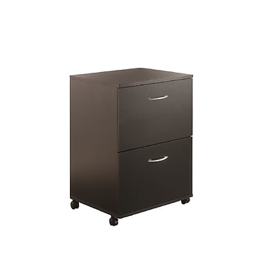 Nexera Essentials 2 Drawer Mobile/Pedestal File, Black, Legal, 18.62''W