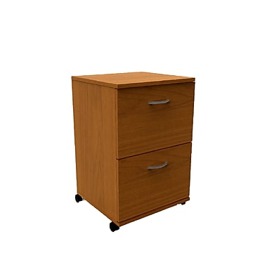 Nexera Essentials 2 Drawer Mobile/Pedestal File, Cappuccino, Legal, 18.62''W