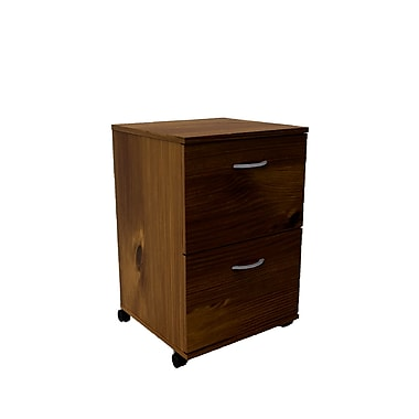 Nexera Essentials 2 Drawer Mobile/Pedestal File, Brown,Legal, 18.62''W