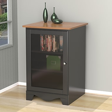 Pinnacle 1-Door Audio Tower from Nexera, Cherry Black
