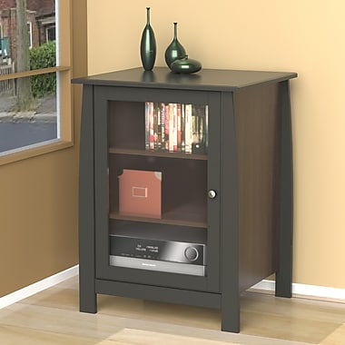 Pinnacle 1-Door Audio Tower from Nexera, Espresso
