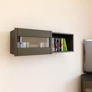 Nuance Wall Shelf with Sliding Door from Nexera, Espresso Ebony