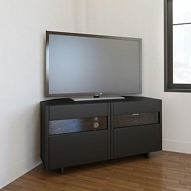Nexera – Meuble d'angle pour téléviseur Vision de 48 po, noir
