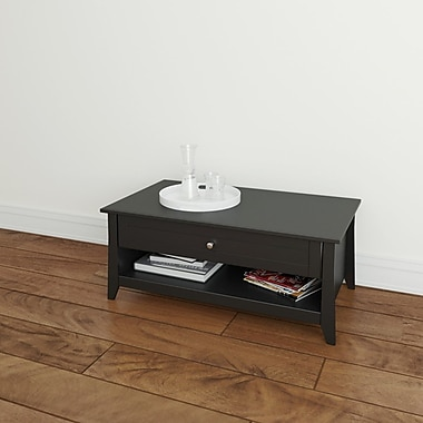 Nexera Tuxedo Melamine Coffee Table, Black