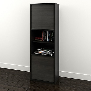 Nexera Sereni-T 2-Door Bookcase, Black Ebony (210306)
