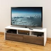 Nexera – Meuble pour téléviseur de 60 po Liber-T, noyer blanc