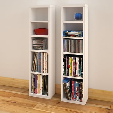 Liber-T CD/DVD Towers from Nexera, White