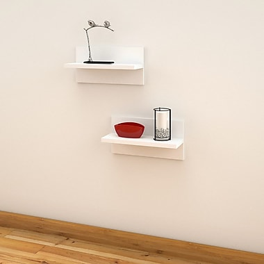 Liber-T Floating Shelves from Nexera, White, 2/Pack