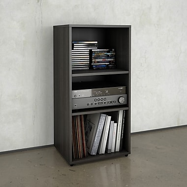 Allure Open Storage Unit from Nexera, Ebony