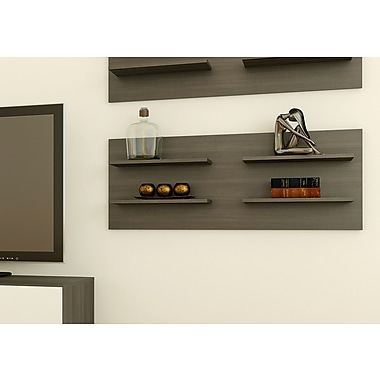 Allure Decorative Wall Panel with 4 Shelves from Nexera, Ebony