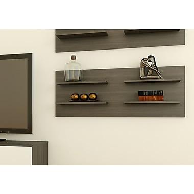 Nexera Allure Decorative Wall Panel with 4 Shelves, Ebony