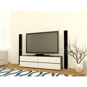 Allure 60-inch TV Stand with 2 Drop-Down Doors and 2 Drawers from Nexera