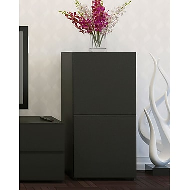 Avenue 1-Door Storage Unit from Nexera, Black