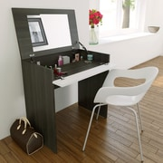 Allure Vanity with Enclosed Storage and Mirror from Nexera, White