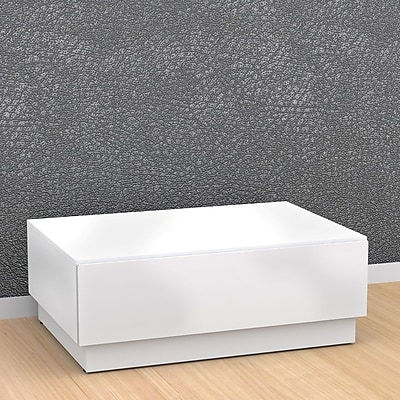 Nexera Blvd Melamine Coffee Table, White, Each (68717499480-1)