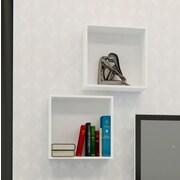 Nexera – Cubes muraux Blvd, blanc, 2/paquet