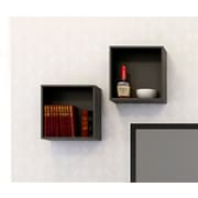 Nexera – Cubes muraux Avenue, noir, 2/paquet