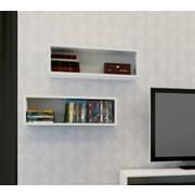 Blvd Rectangular Wall Shelves from Nexera, White, 2/Pack
