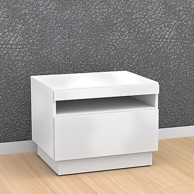 Nexera Blvd Melamine End Table, White, Each (68717499479-5)