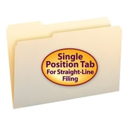Smead® File Folder, 1/3- Cut Tab, Varied Positions, Legal Size, Manila, 100/Box