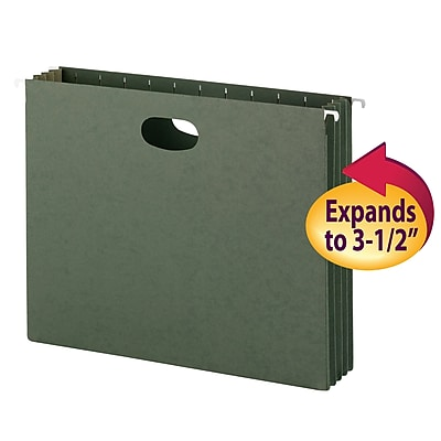 Smead Hanging File Pockets, 3-1/2