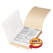 Smead® Folder Dividers with Fastener, Bottom 1/5-Cut Tab, Manila, 50/Box