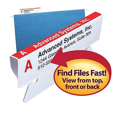 Smead Viewable Labeling System, Label Refill Pack, Hanging Folder Labels, Ink-Jet and Laser Printers (64915)