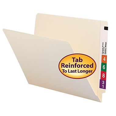 Smead® End Tab File Folder, Shelf-Master® Reinforced Straight-Cut Tab, Manila