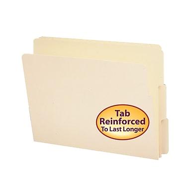 Smead® End Tab File Folder, Shelf-Master® Reinforced 1/3-Cut Tab, Letter Size, Manila, 100/Box